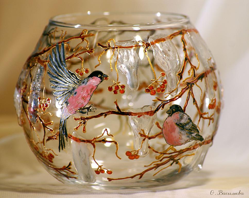 декор круглой вазы своими руками фото моего