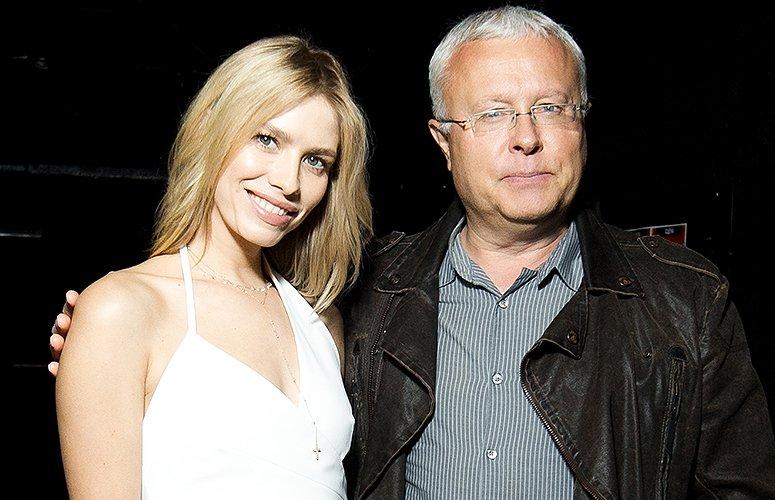 Лебедев с женой